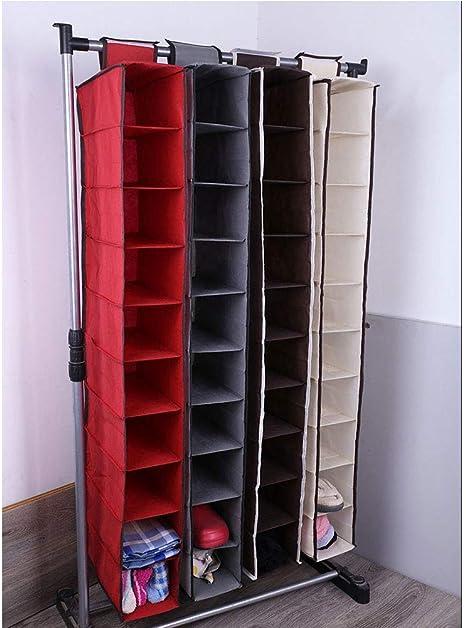TOPBATHY Organizador del almacenaje del Armario de la Tela Que cuelga con los cajones 10 Estante para los Zapatos, Bolsos de Las Botas, embragues, Accesorios (Beige): Amazon.es: Hogar