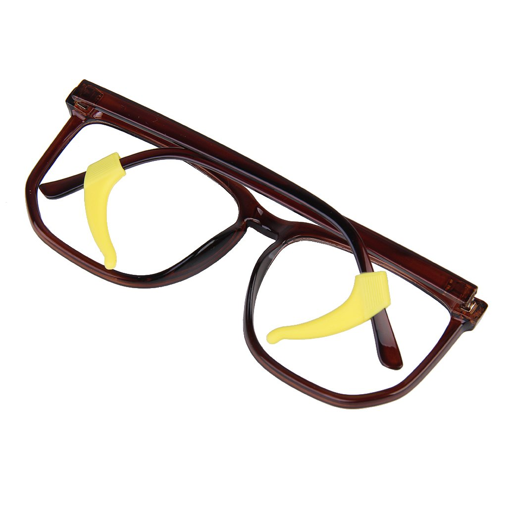 5f3df175372 6 Pair Glasses Spectacles Eyewear Frame Ear Grip Hook Lock Anti-slip Tip  Holder--Black+White+Brown+Yellow+Blue+Pink  Amazon.ca  Health   Personal  Care