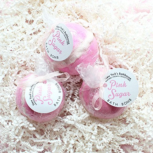 Pink Sugar Bath Bomb Value Pack- 3 Bath Bombs by New York's Bathhouse