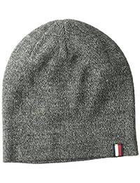 Tommy Hilfiger Unisex Fine Gauge Marled Beanie Hat, Charcoal, One Size