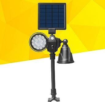 Mobestech - 36 luces LED solares para jardín, con sensor de luz, iluminación impermeable para exteriores, para patio, camino: Amazon.es: Iluminación