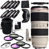 Canon EF 70-200mm f/2.8L IS II USM Lens + 77mm 3 Piece Filter Set (UV, CPL, FL) + 77mm Lens Hood + SLR Lens Pouch + Lens Pen Cleaner + Microfiber Cleaning Cloth + Lens Cap Keeper Bundle