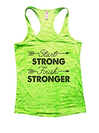 88f7bf6a504c0d Start Strong Finish Stronger Womens Workout Tank Top at Amazon Women s  Clothing store