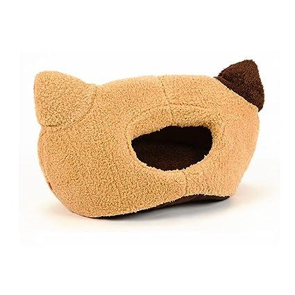 Yzibei Cómodo Orejas de Gato de Dibujos Animados Camada de Gato Caída de Invierno Habitación de