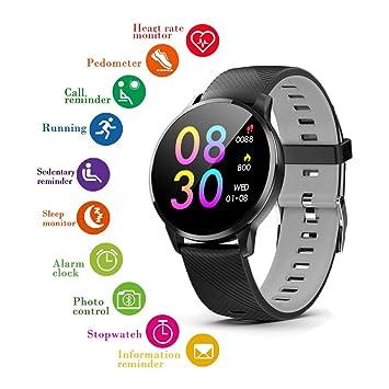 Indigi Ronda Carcasa de Metal + Piel Smartwatch (Bluetooth ...