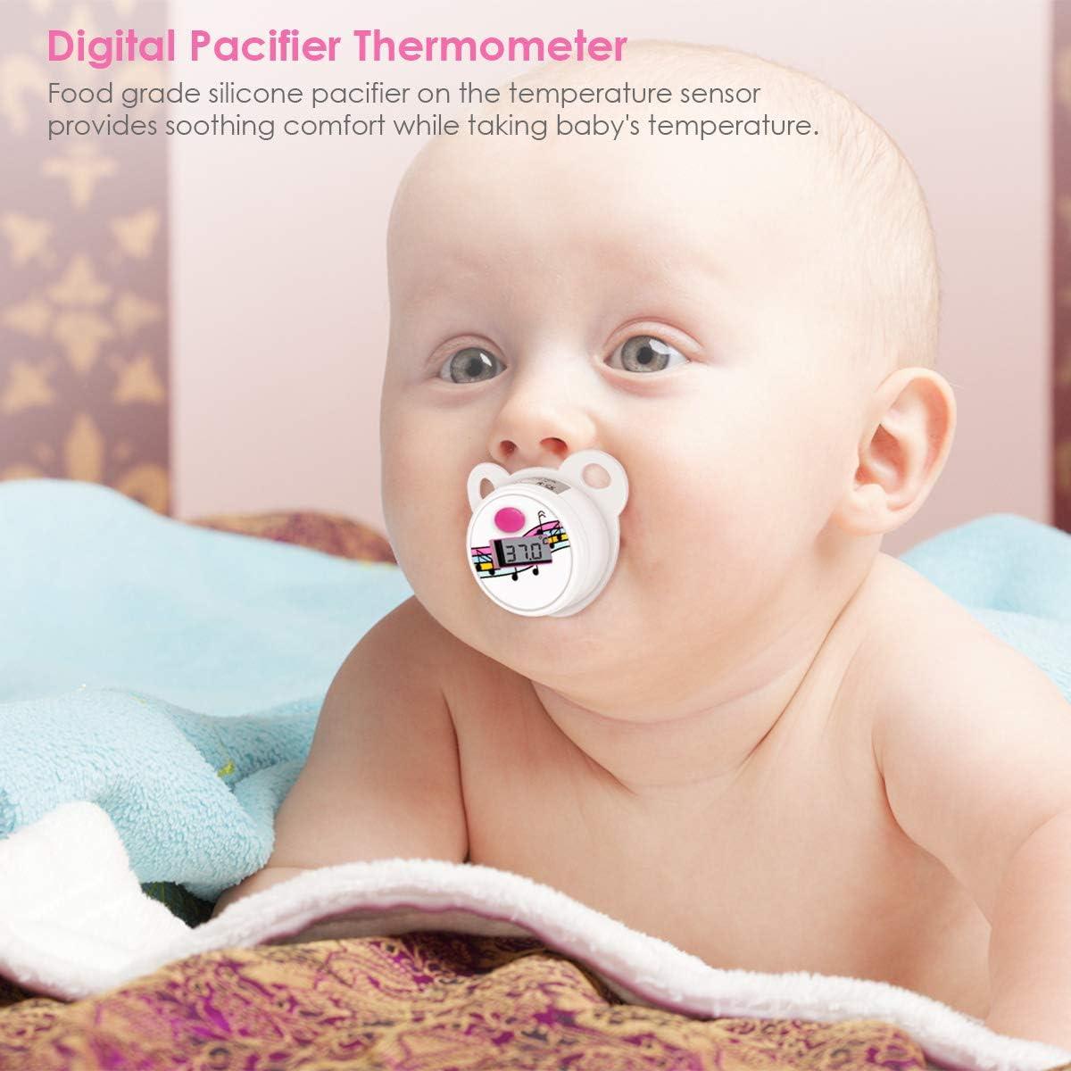Haokaini Bolsas de Silicona Port/átiles con Term/ómetro Digital para Beb/és