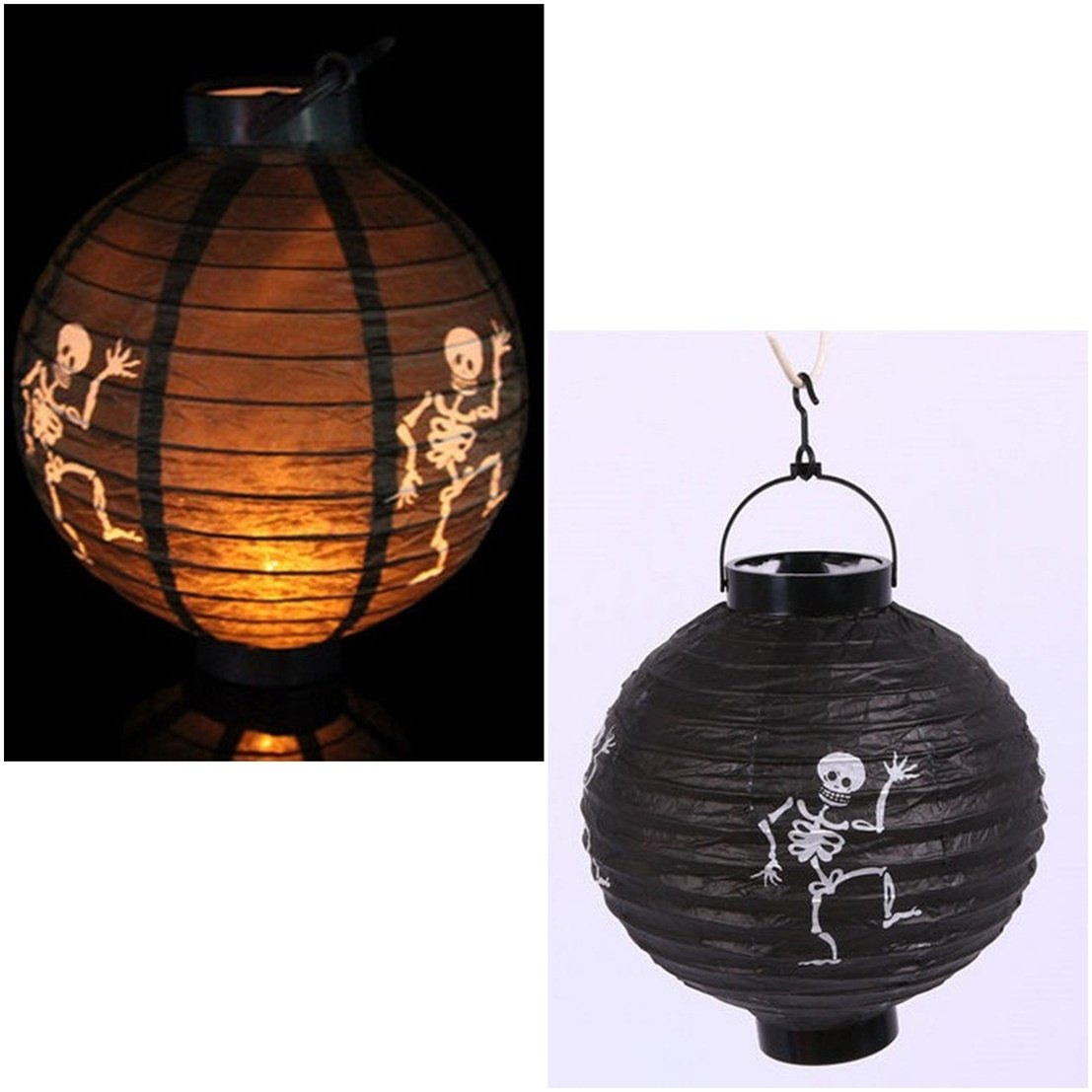 1 Pcs Professional Popular Halloween LED Nightlight Xmas Tree Paper Lantern Decoration Style Ghost Color Black