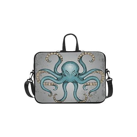 36634b6c75c1 Amazon.com: Waterproof Laptop Bag Blue Octopus Shoulder Messenger ...