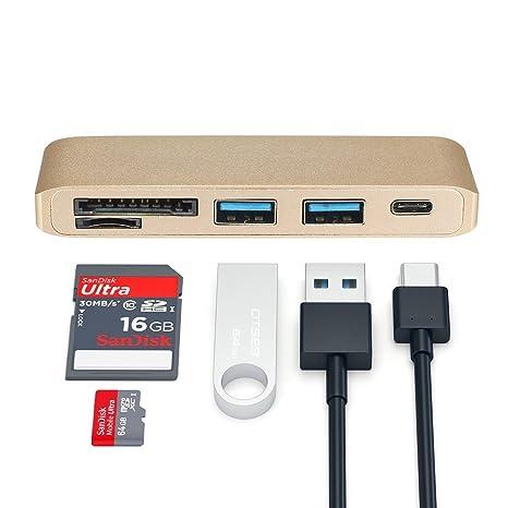 Amazon.com: elementdigital USB C HUB adaptador SD ranura ...