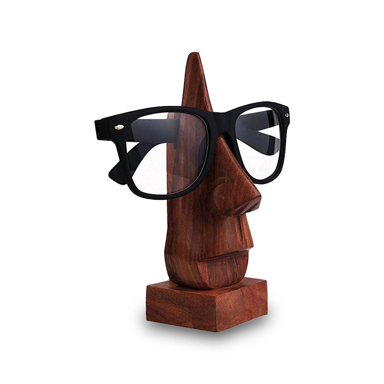Support De Spectacle en Bois Lunettes Spec Stand Titulaire Unique Design Forme Pr/ésentoir Home Decor 6 Pouce Khandekar Dispositif De K