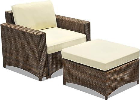 Amazon Com W Unlimited Studio Shine Collection Modular Armchair Ottman Set Chair Ottoman Dark Brown Furniture Decor