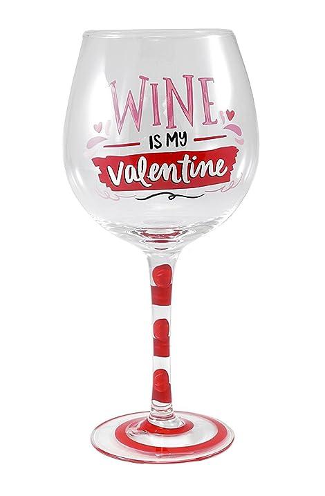 wine is my valentine 20 oz valentines day wine glass - Valentine Wine Glasses