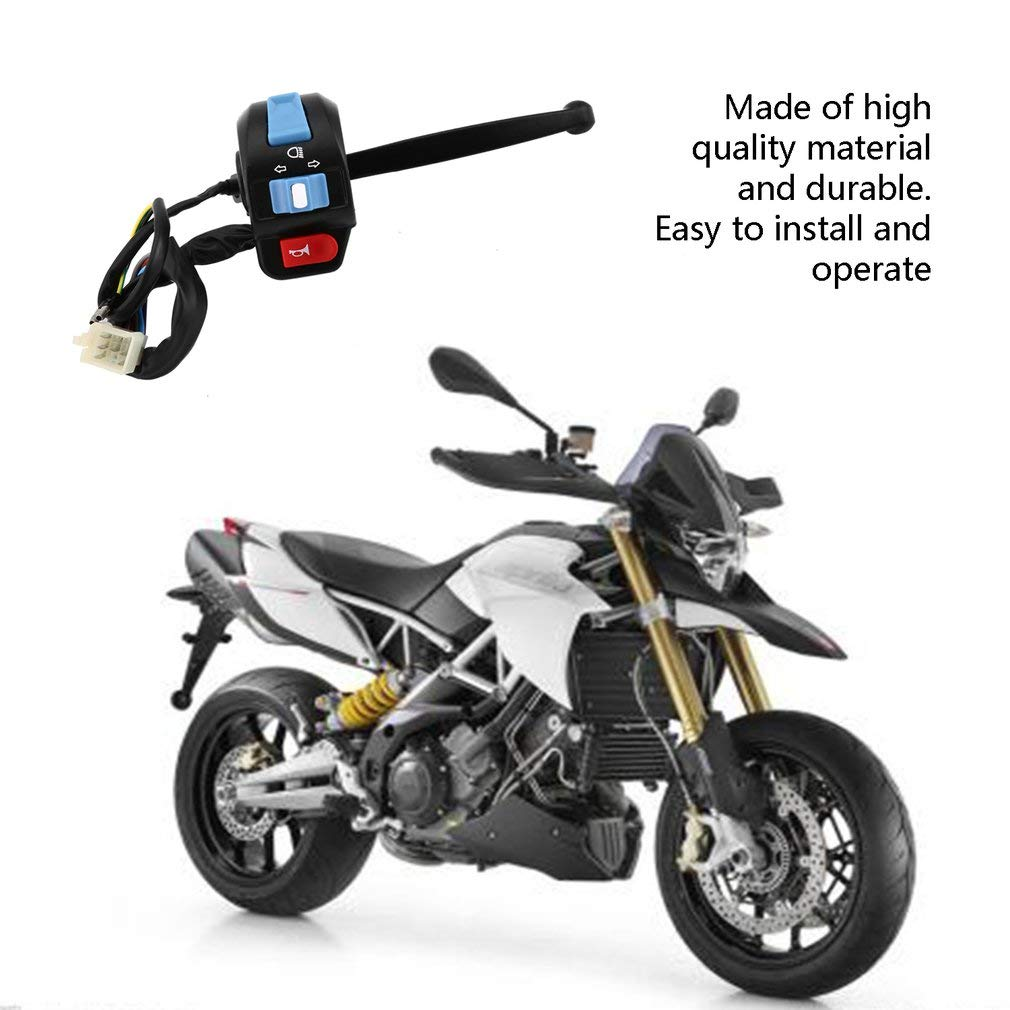 Leoboone Universal Motorcycle Switchs Black Left Brake Lever Light Switch Control Fit For Scooter Moped GY6 50cc 150