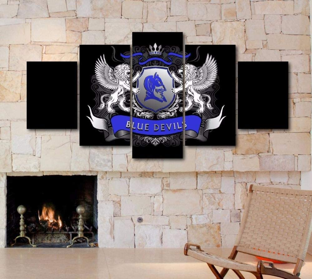 Sincin Large Framed Duke College 5 Piece Blue Devils Canvas Wall Art Home Decor-200x100 cm