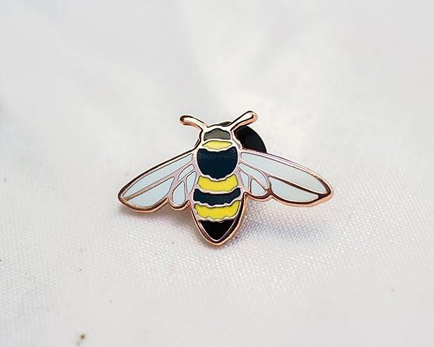 d86b89401c5 Amazon.com  Honey Bee Enamel Pin - Lapel Pin - Badge  Handmade