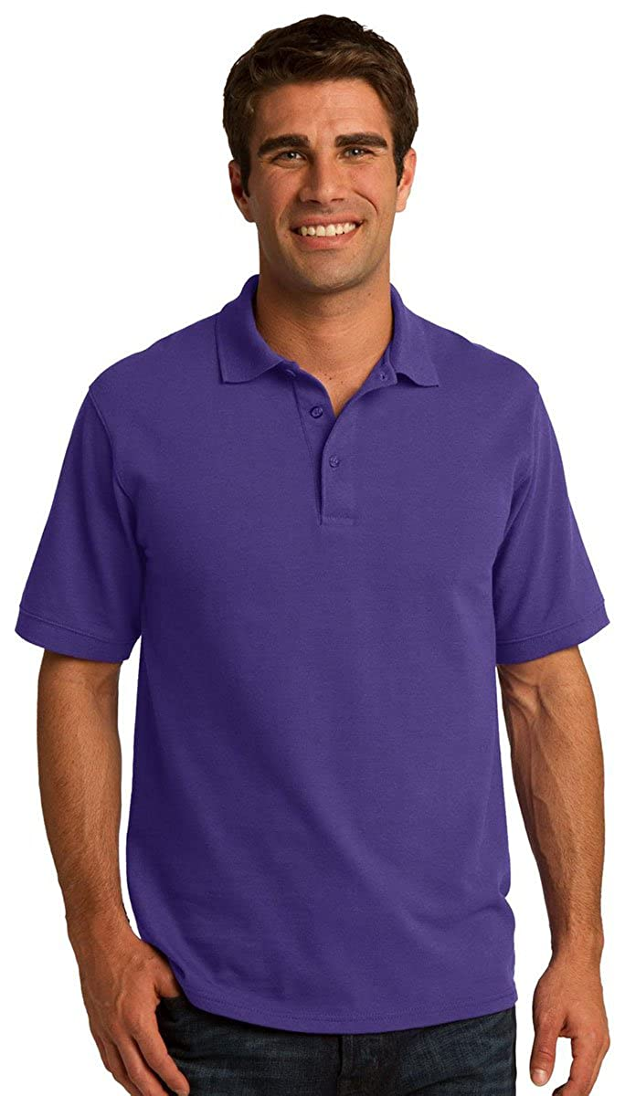 Port /& Company Mens Exceptional Knit Collar Polo Shirt/_Sand/_XX-Large