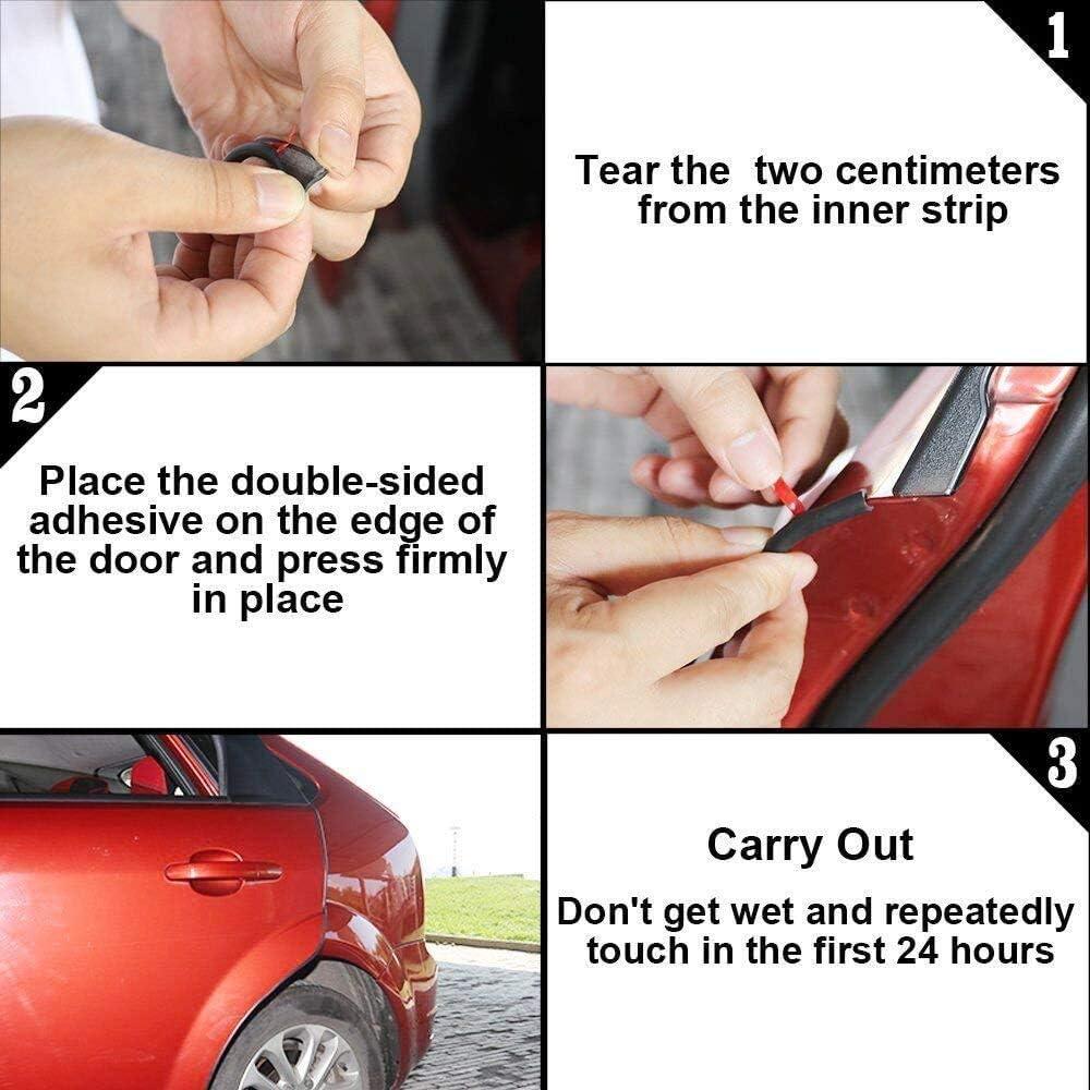Protector de borde de autom/óvil Tira de 5M protector de sello de goma de borde de autom/óvil protector de borde en forma de U apto para SUV Sedan MPV y la mayor/ía de los modelos azul