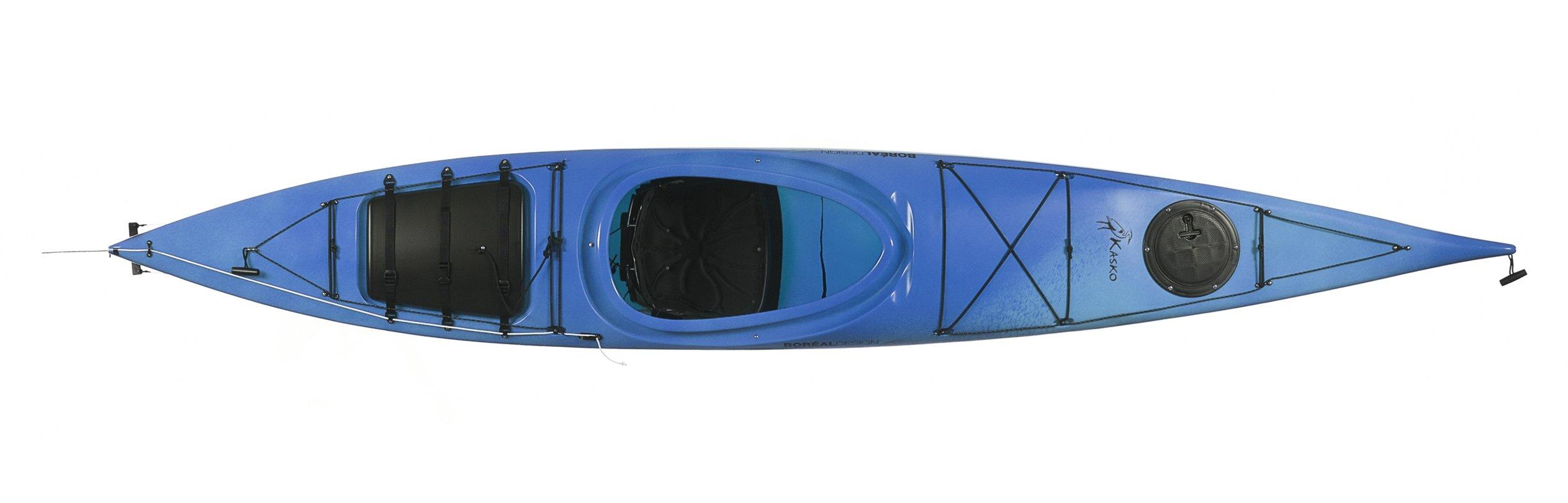 Boreal Design Kasko PE Rudder Touring Kayak, White/Blue by Boreal Design