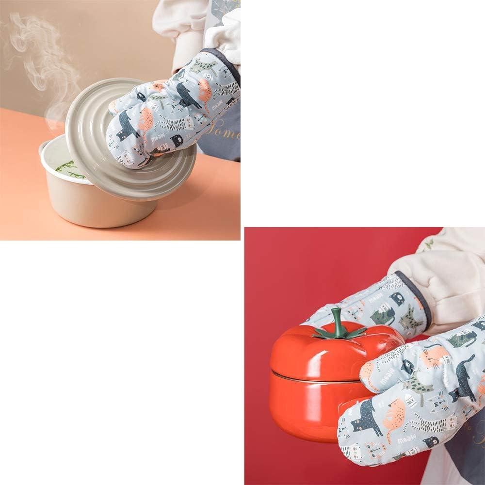 Barbacoas Hornear 100/% Algod/ón Acolchado Cocina Gruesa Cocina//Guantes para Asar Dulau 1 Par de Guantes para Horno para Cocinar Guantes Resistentes al Calor para Horno de Cocina