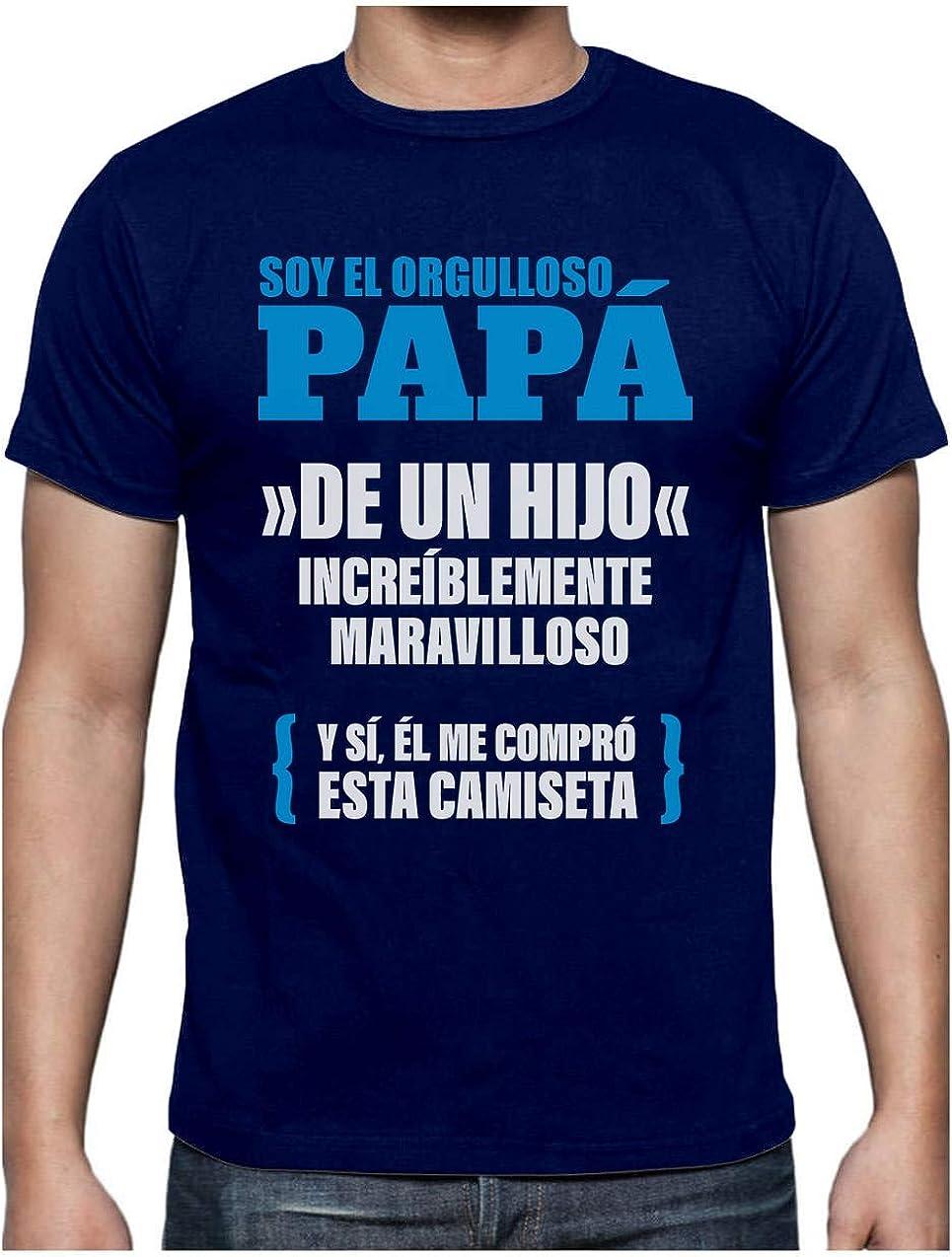 Green Turtle Camiseta para Hombre - Regalos para Hombre, Regalos para Padres. Camisetas Hombre Originales Divertidas - Orgulloso Papá de un Hijo Increíble