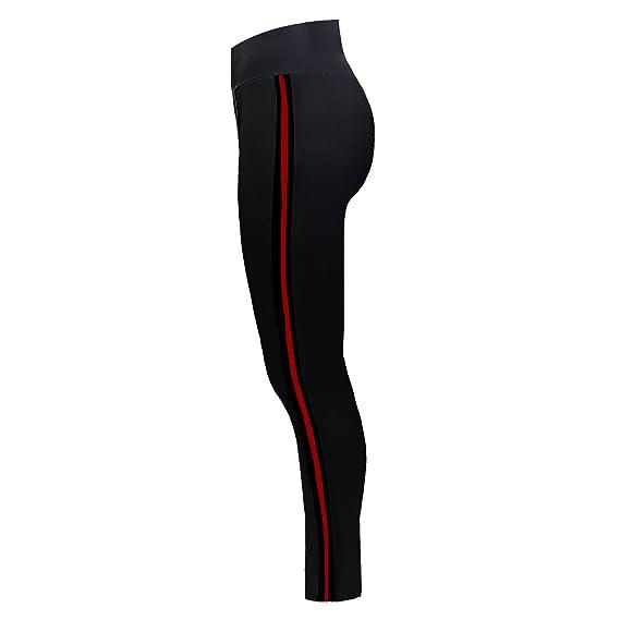 943867550218 SA Fashions Elegant Ladies Waist Slim Fit Side Stripe Skinny Stretch Trouser  Diamante Sports Active Wear Fitness Gym Yoga Leggings Pants (Black with  (BR2) ...