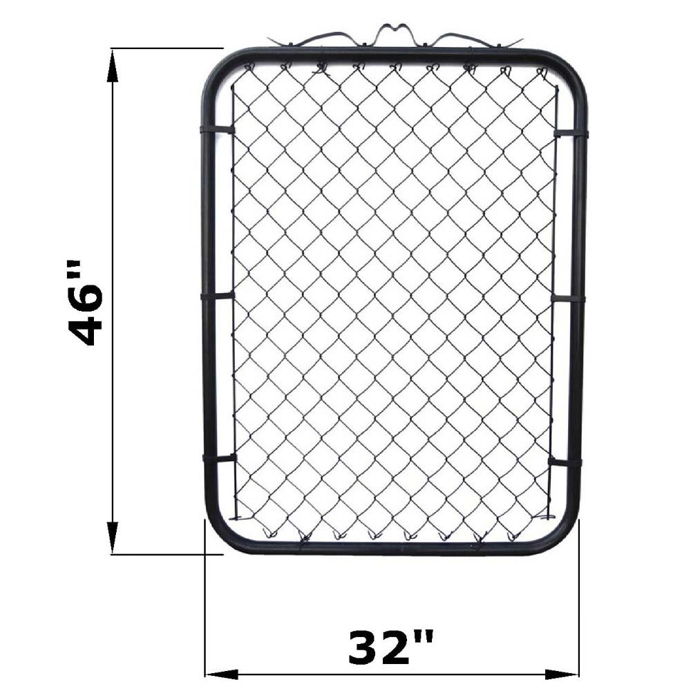 MTB Black Coated Chain Link Fence Gate 48-inch Overall Height by 32-inch Frame Width (Fit a 36-inch Opening), 1 Pack Walk Through Farm Gate by MTB