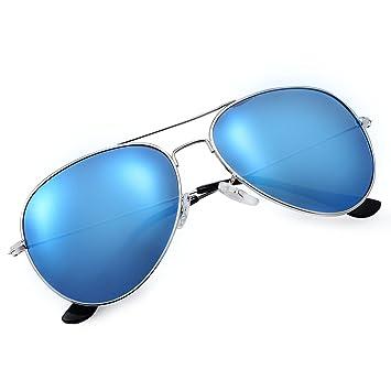 Yveser Gafas de Sol UV400 polarizadas para Hombres y Mujeres Yv3025 (Lente Azul/Marco