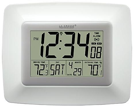 La Crosse Technology WS-8119U-IT-W Reloj digital de pared at-