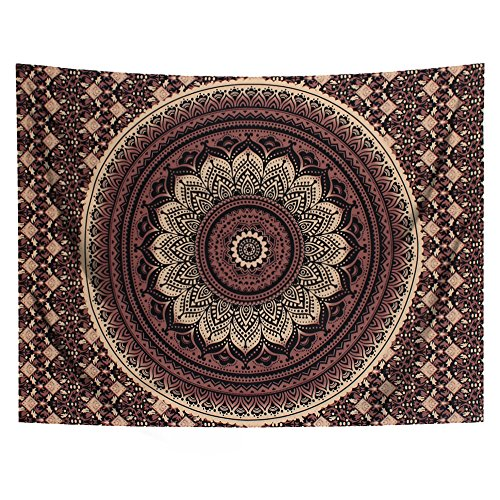 YAMUDA Wall Hanging Cloth Classical Mandala Tapestry Yoga Mat Wall Hanging DIY Decoration For Girls Apartment Bedroom Living Room Table Couch Cover Summer Beach Towel Bohemian Tapestry -