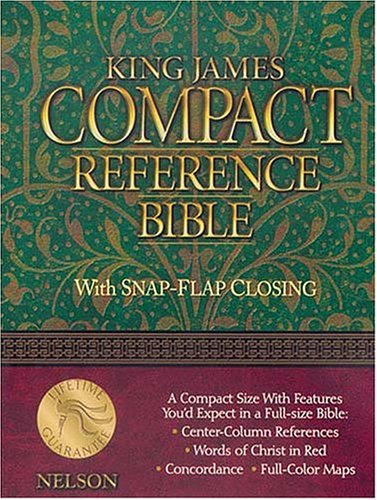 Compact Reference Bible, Snap Flap Edition (KJV, Black Leatherflex) Compact Reference Bible Kjv Snap