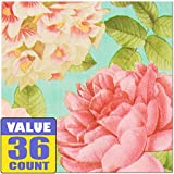 Amscan Blissful Blooms Napkin Floral Garden 65'' x 65'' Pack 36 Others Party Supplies (432 Piece)
