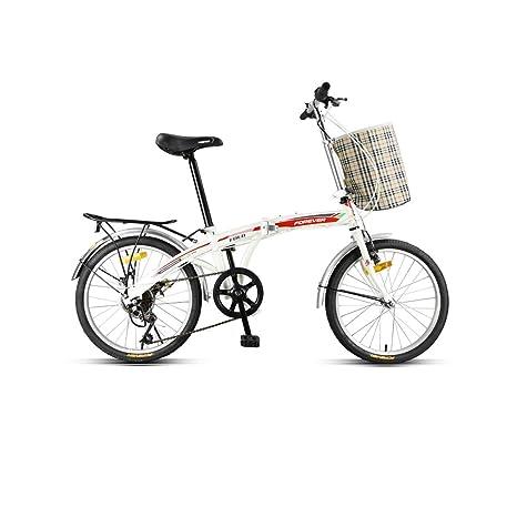 Bicicleta, bicicleta plegable, bicicleta de 7 velocidades de 20 ...