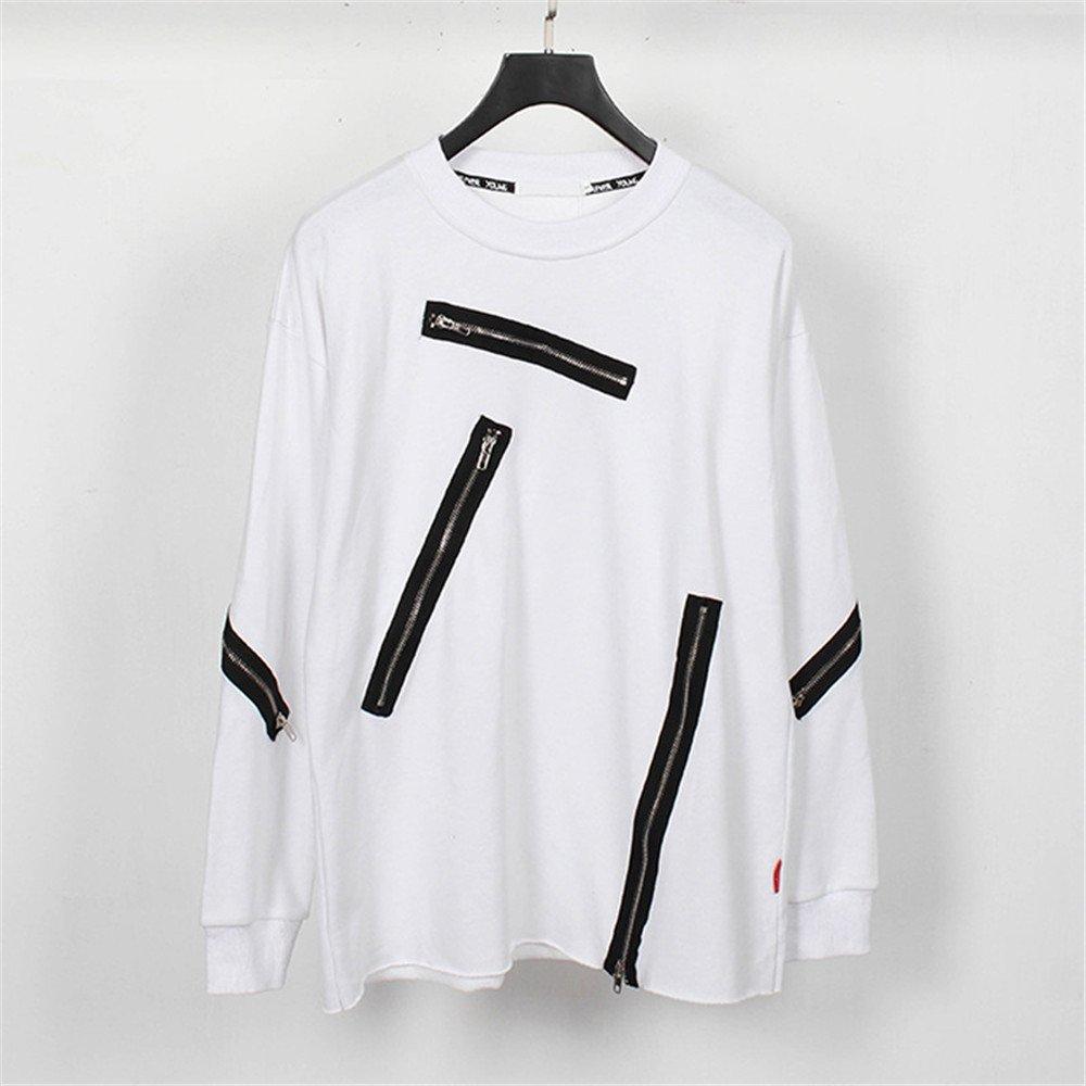 Lisux mach alle treffer Trend dunkle Kapuzenpullis männer Casual Mode - Pullover,weiße,XXL