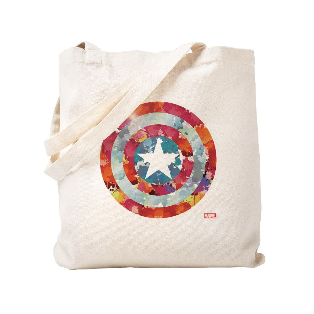 CafePress - Captain America Tie-Dye Shield - Natural Canvas Tote Bag, Cloth Shopping Bag by CafePress
