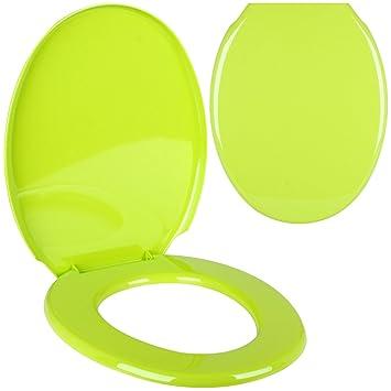 Promobo WC Sitz WC Design Uni grün Anis Déco City ...
