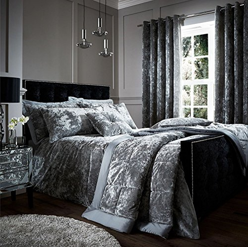 Catherine Lansfield Crushed Velvet Duvet Cover Bedding Set &