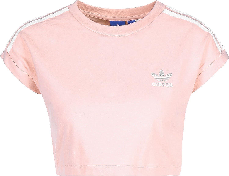 adidas Cropped - Camiseta Corta para Mujer: Amazon.es: Ropa y accesorios