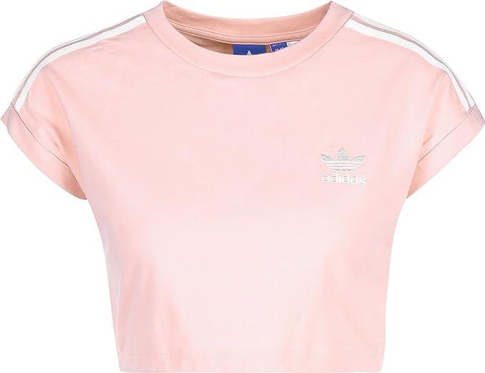 Adidas Cropped - Camiseta Corta para Mujer, Primavera/Verano, Mujer, Color Rosa (Rosvap), tamaño 48: Amazon.es: Deportes y aire libre