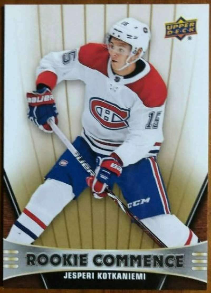 2019-20 Upper Deck series 1 #48 jesperi kotkaniemi-Montreal Canadiens