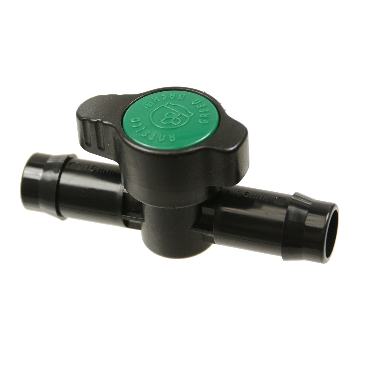 Antelco 45515 Green Back In-line Coupling Valve for 1/2' Drip Irrigation Systems