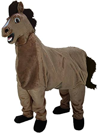 2-Person Horse Mascot Costume  sc 1 st  Amazon.com & Amazon.com: 2-Person Horse Mascot Costume: Clothing