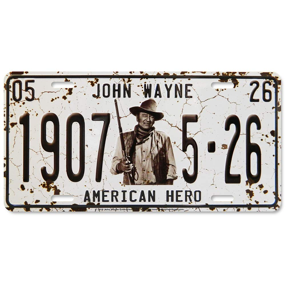 John Wayne 1907 Midsouth Products John Wayne License Plate