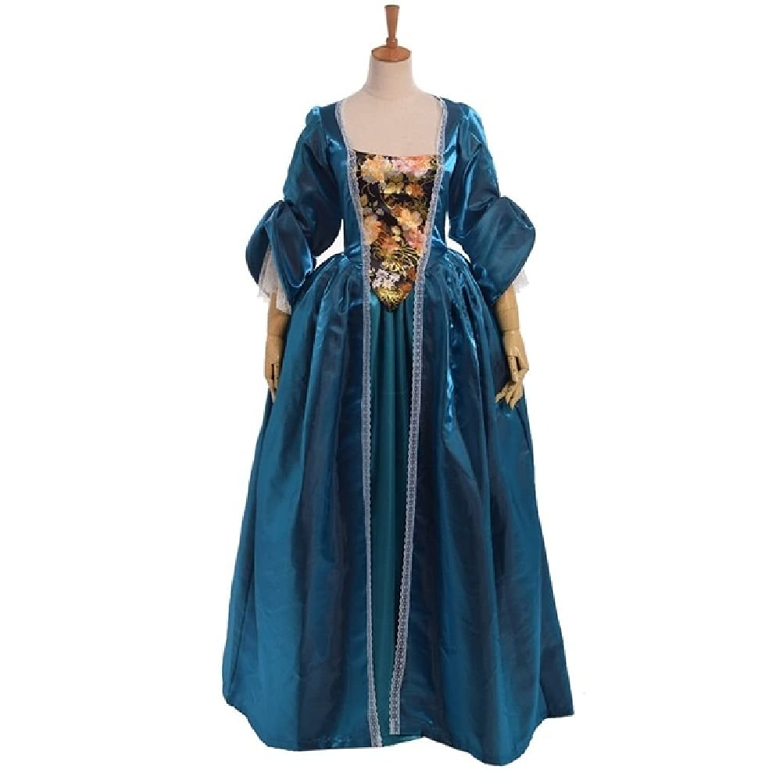 Amazon.com: 1pc Vintage Women Victorian Bustle Dress Colonial Rococo ...