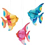 "Fun Express - 10"" Tissue TROPICAL FISH Decorations (1-Pack of 6)"