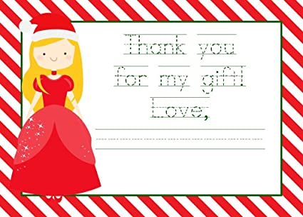 christmas thank you cards with princess christmas thank you notes christmas gift thank you