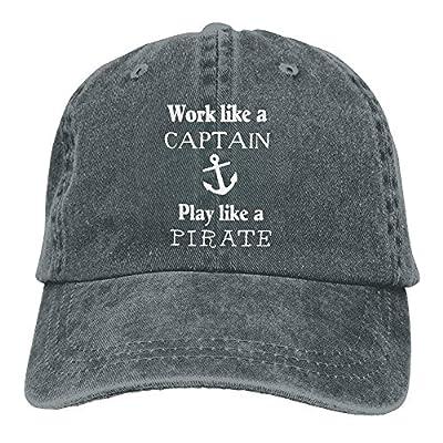 Baseball Jeans Cap Work Like A Captain Unisex Snapback Caps Adjustable Baseball Hat
