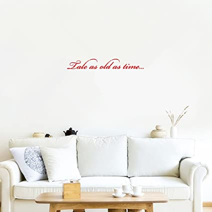 Amazoncom Wall Vinyl Stickers Quotes Tale As Old As Time For