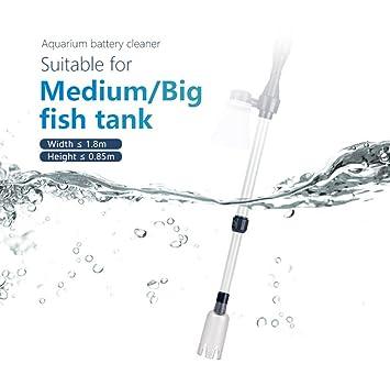 El tanque de pescado eléctrico Aspirador Bomba de vacío para acuario con filtro de agua para