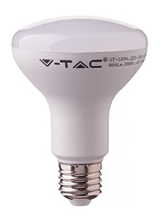 SAMSUNG CHIP 10W E27 R80 - Bombilla LED (plástico, color blanco cálido, SKU