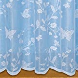 Butterfly Net Curtain White - Sold By The Metre (45' - 114cm)